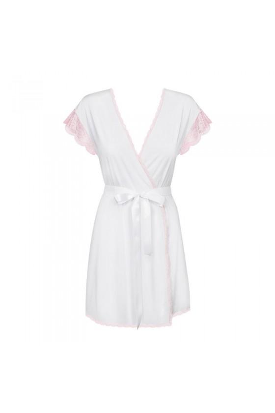 Girlly Peignoir - Rose et blanc