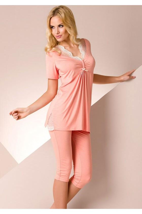 Pyjama court corail